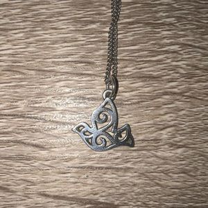 James Avery adorned dove charm and chain